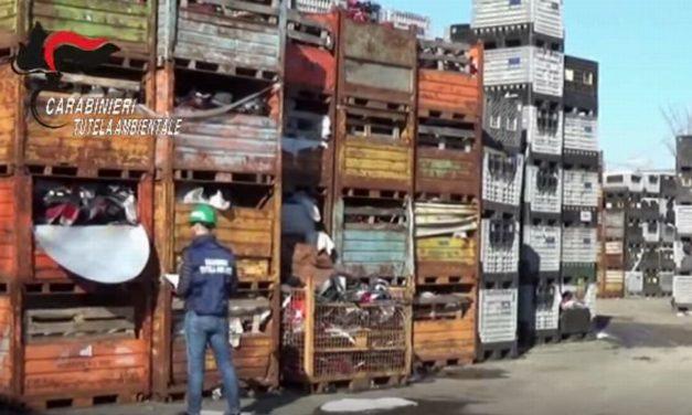 A Carbonara Scrivia i carabinieri sequestrano tremila tonnellate di rifiuti plastici stoccati abusivamente