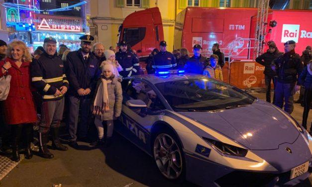 Festival di Sanremo. Non solo sicurezza ma anche informazione e prevenzione con la Polizia di Stato.