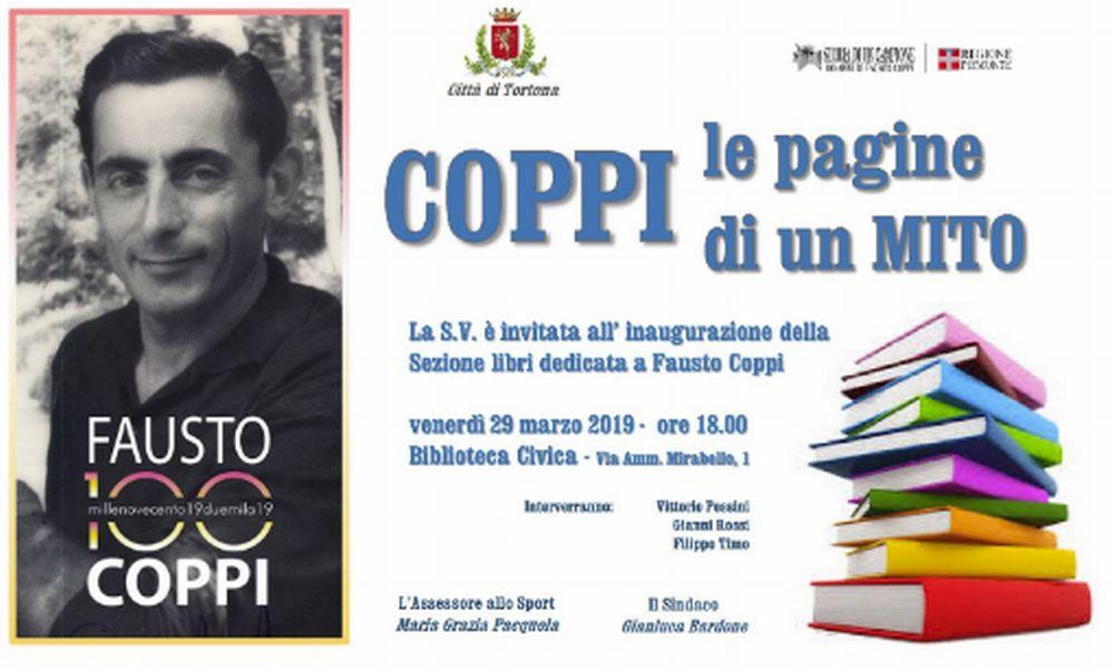 Tortona dedica una sezione della Biblioteca a Fausto Coppi con oltre 50 libri sul ciclismo