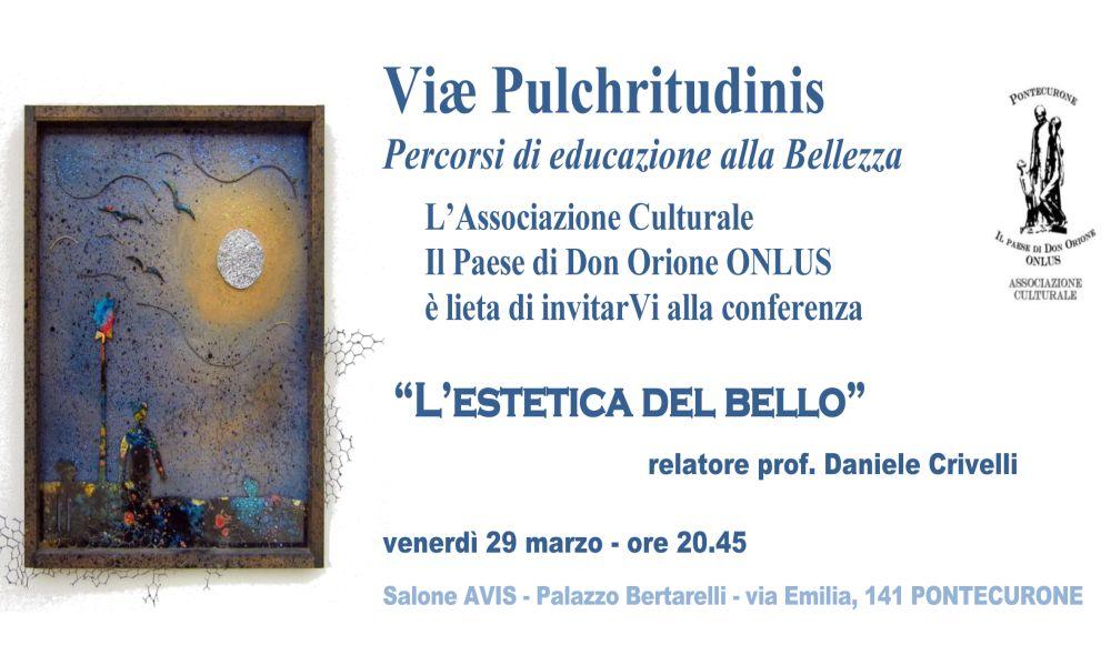 Venerdì a Pontecurone il secondo incontro sulla Bellezza con Daniele Crivelli