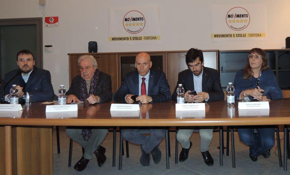 Presentato il candidato Sindaco di Tortona dei Cinquestelle Gino Bartalena e tutti i nomi dei candidati in lista. Le immagini