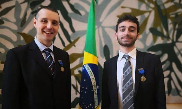 I tortonesi Matteo Leddi e Corrado D'Andrea unici civili insigniti a Roma della medaglia dell'esercito brasiliano