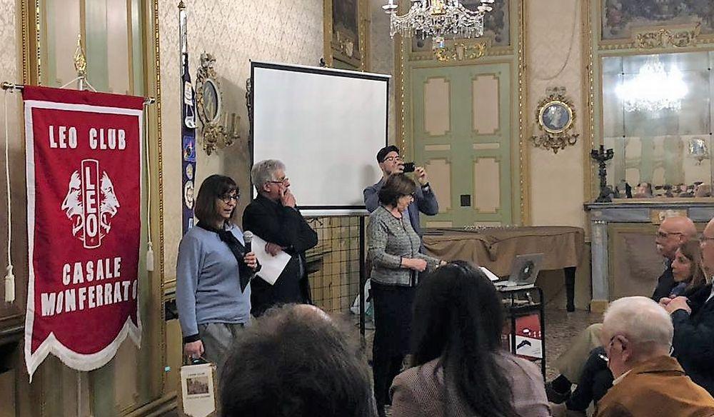 Due alunni dell'I.I.S. Marconi di Tortona  invitati a una cena organizzata dal Lions Club di Casale Monferrato