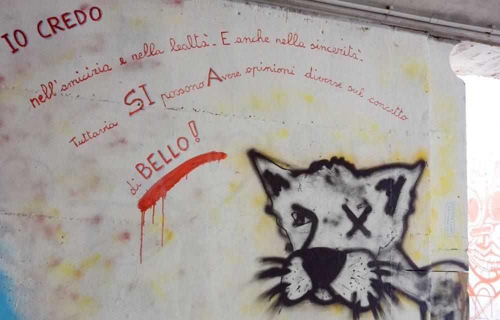 Il sottopasso ferroviario di Pontecurone è più bello grazie a Fabrizio Falchetto