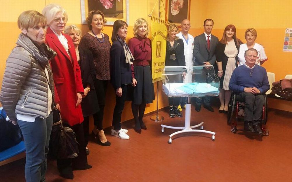 Zonta Club: donate due culle innovative all'Ostetricia di Alessandria