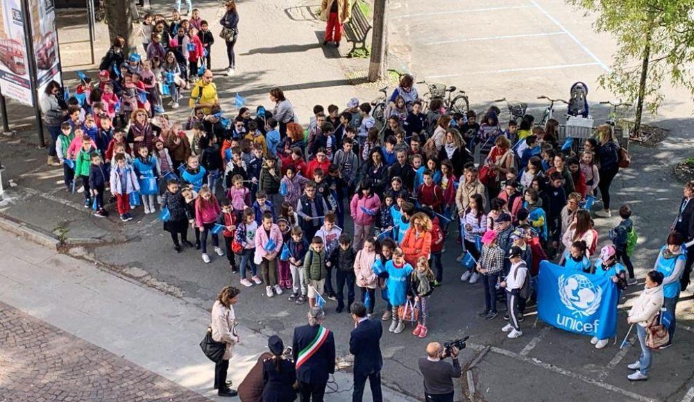 La marcia dell'UNICEF  con gli studenti delle Scuole Primarie di Alessandria