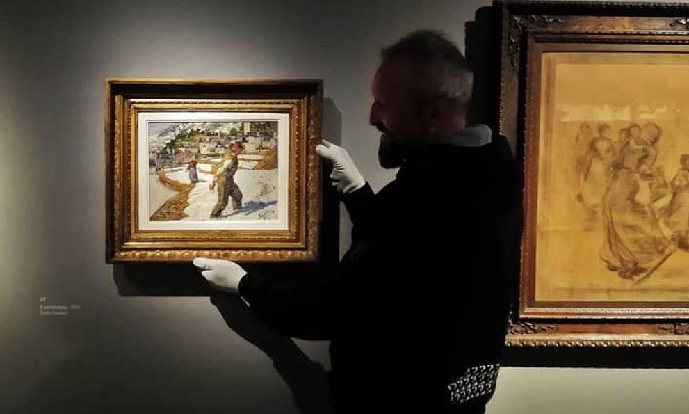 Due opere del Museo del Divisionismo di Tortona chieste per importanti mostre