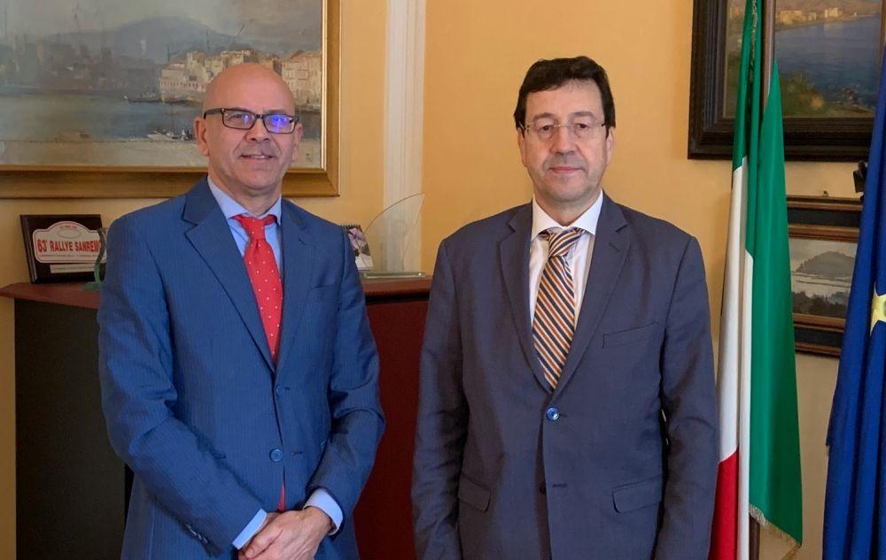 Il nuovo questore di Imperia, Pietro Milone ha incontrato il presidente della provincia Domenico Abbo