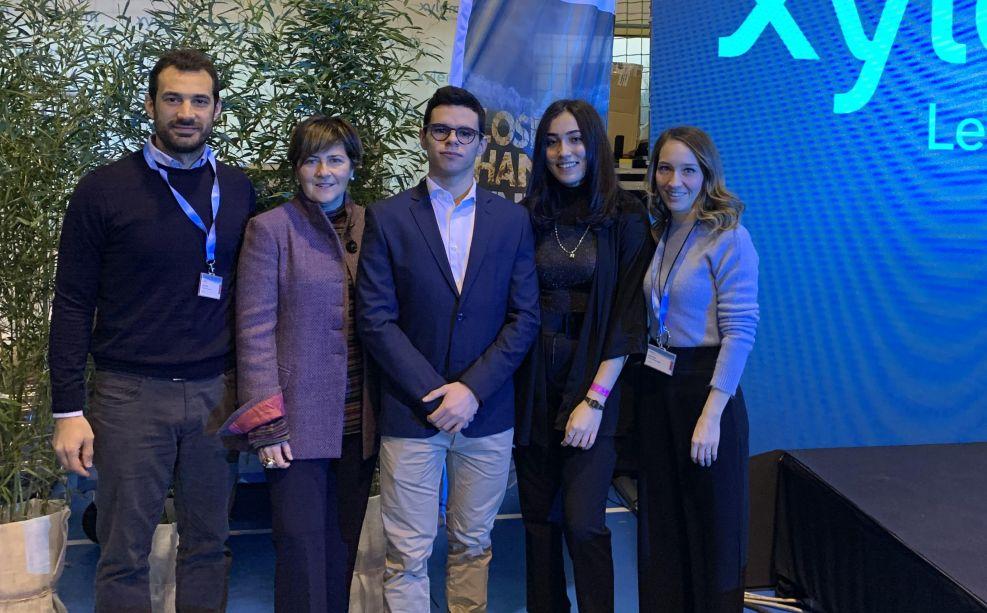 I Tortonesi Mariam Mahmoud e Fabio Guzzi del Marconi in Veneto per presentare il progetto con cui hanno vinto il FAST 2019