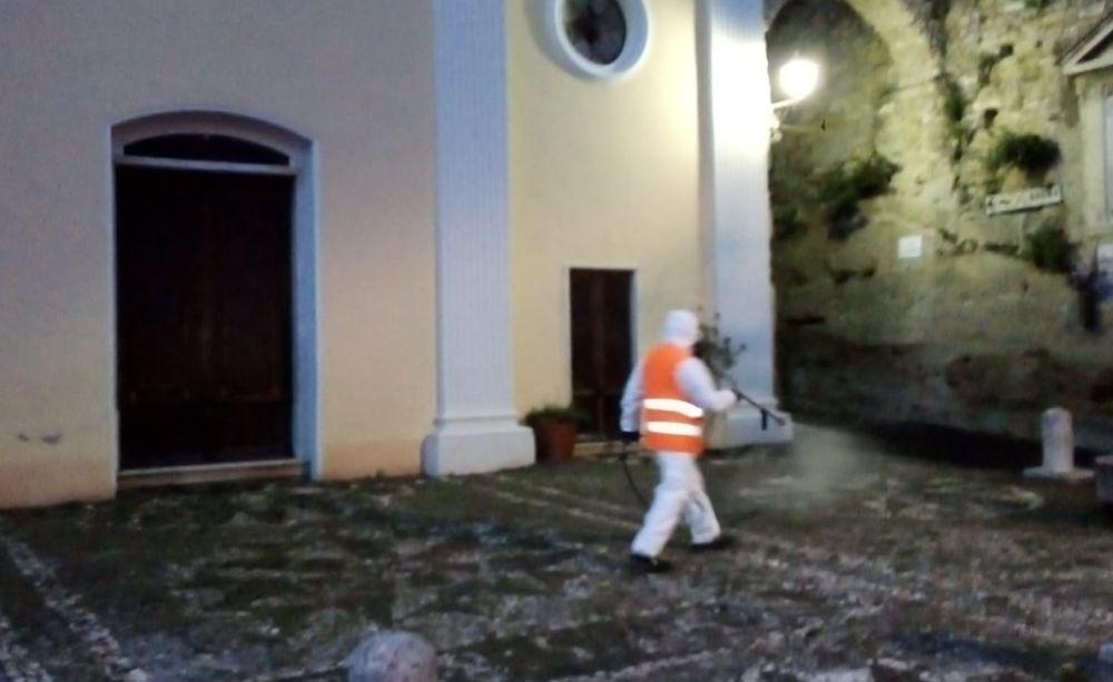 A san bartolomeo iniziata la sanificazione di strade marciapiedi