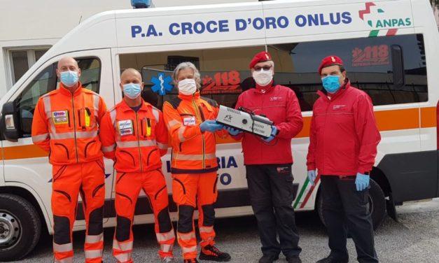 Il Gruppo di Sanremo del Corpo Italiano di Soccorso dell'Ordine di Malta (CISOM) dona un sanificatore alla Croce d'Oro di Cervo
