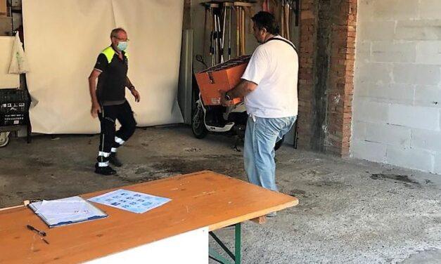 Distribuzione di generi alimentari a San bartolomeo, rifornito il magazzino della Protezione civile
