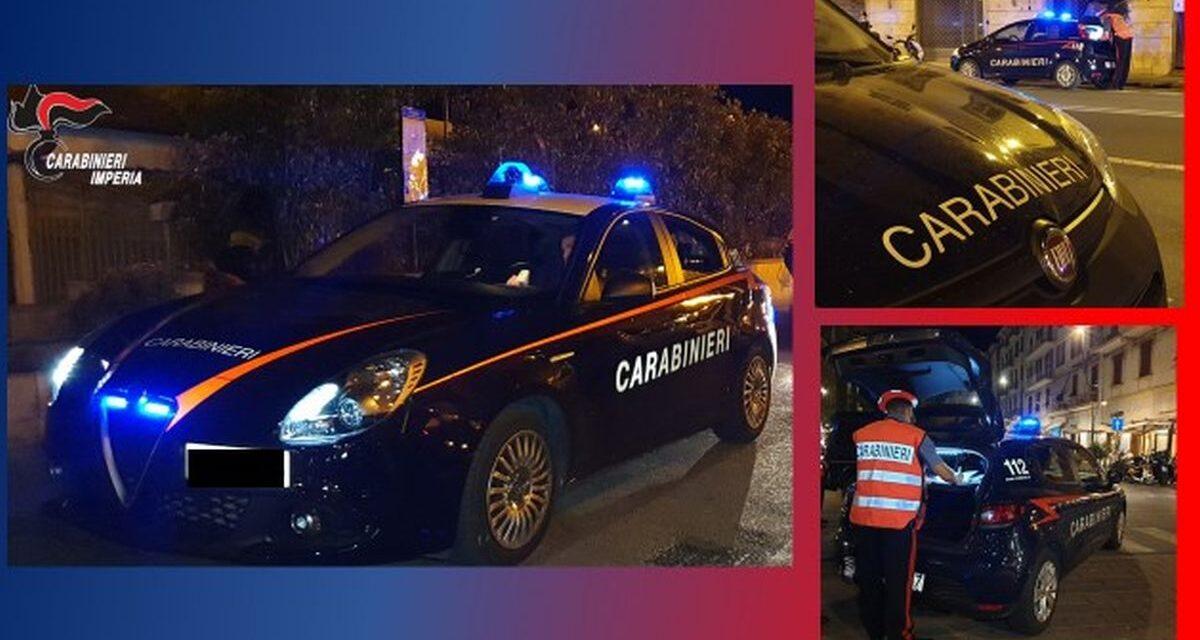 Controlli e denunce di Carabinieri di Sanremo