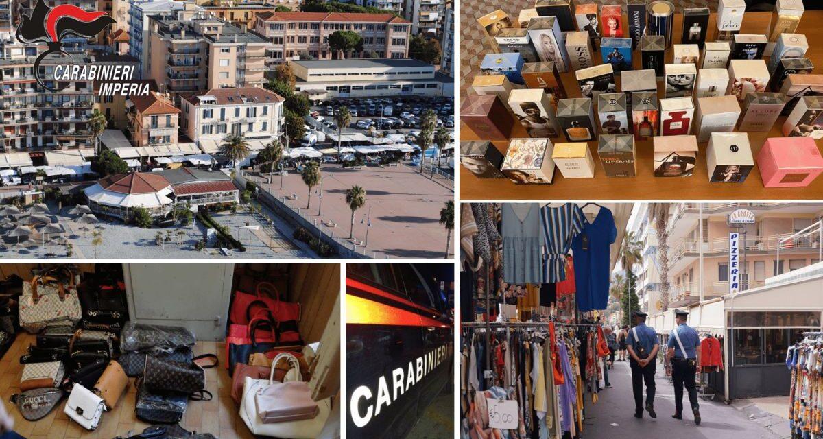 Quasi 800 articoli contraffatti trovati dai Carabinieri al Mercato di Ventimiglia