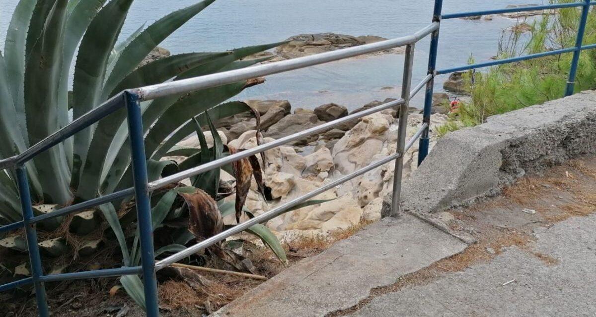 Accesso alle spiagge vietato a Bordighera: troppo materiale presente