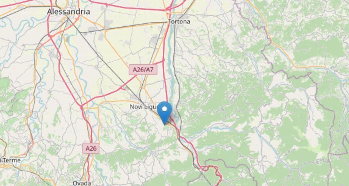 Due scosse di terremoto nel novese ma ad oltre 25 Km di profondità e nessun danno