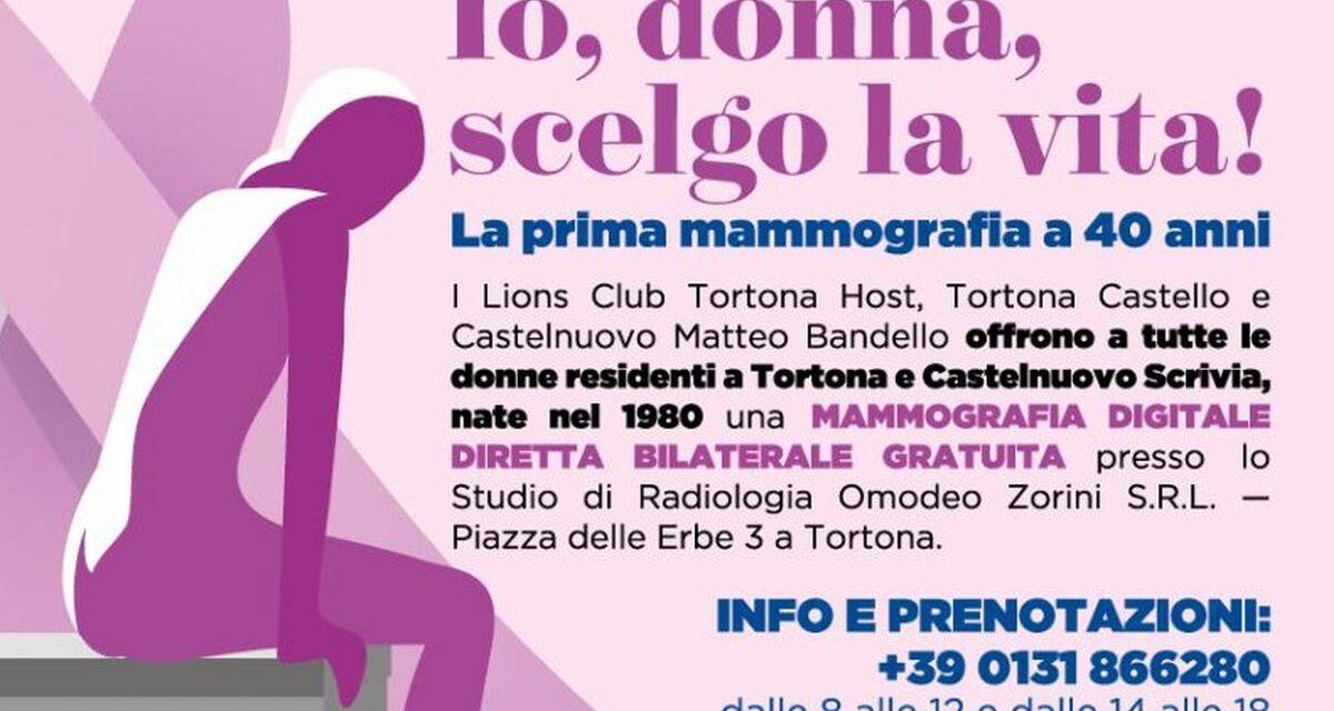 Al via la campagna di sensibilizzazione per la prevenzione precoce del tumore al seno varata dai Lions del Tortonese