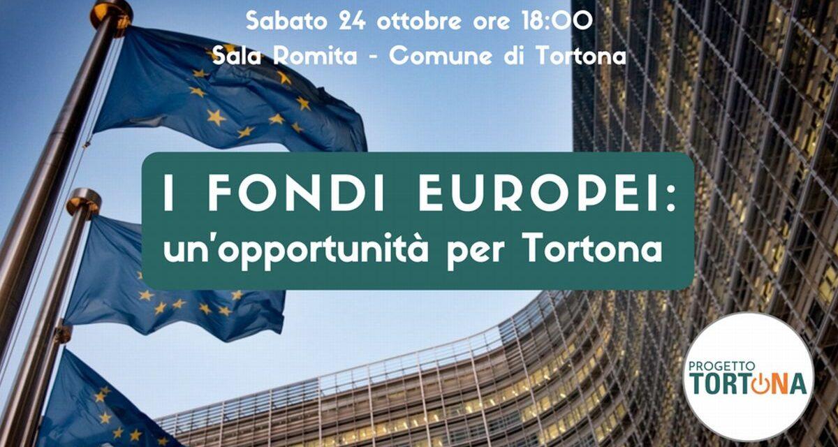 Sabato a Tortona un convegno sui Fondi europei, prenotatevi per tempo