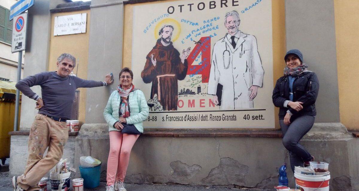 A Castelnuovo la famiglia Falchetto ricorda il medico Granata morto per Covid che Solenghi aveva messo vicino a San Francesco