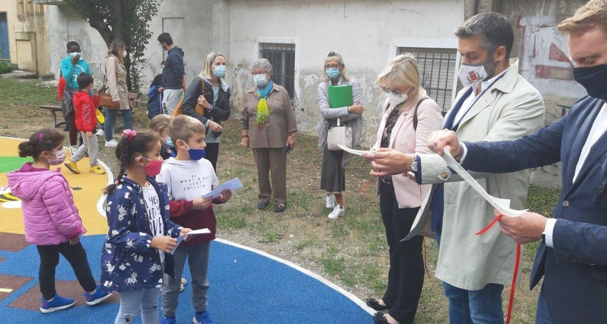 A Tortona inaugurata la nuova area giochi presso i giardini di corso Alessandria. Le immagini