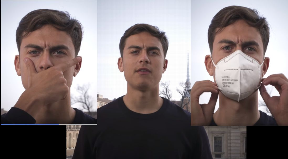 """Paulo Dybala a fianco della Regione per combattere il Covid: """"Indossate la mascherina!"""""""