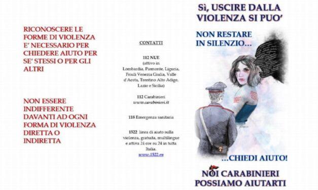 I Carabinieri di Imperia in una campagna contro la violenza di genere