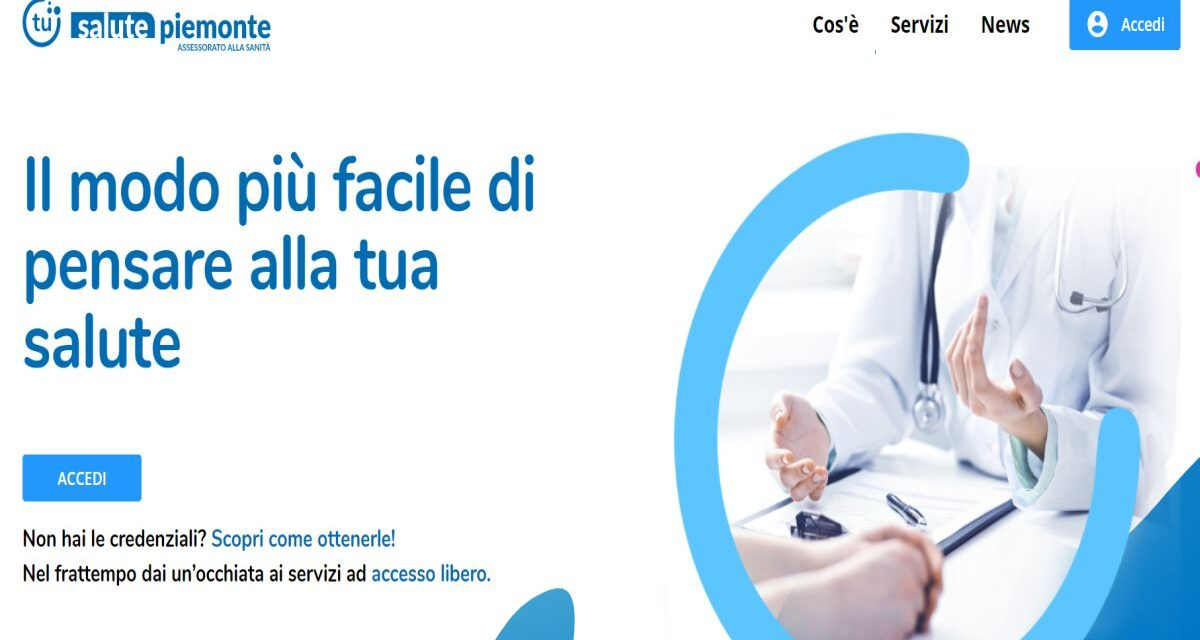 Da oggi si può prenotare visite ed esami sul nuovo portale www.salutepiemonte.it