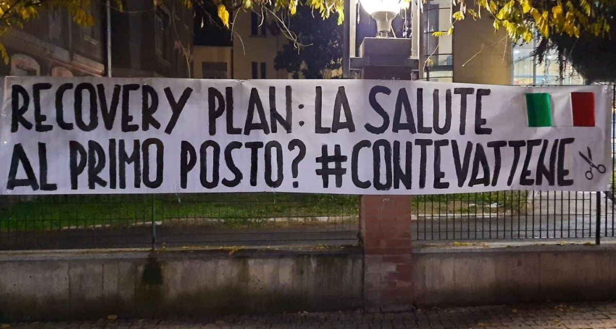 """A Tortona le Mascherine Tricolori contro il Recovery Plan: """"La salute non doveva essere al primo posto?"""""""
