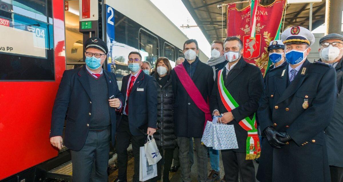 Tortona collegata direttamente con la Svizzera, ieri è arrivato il primo treno. Il futuro è nel turismo
