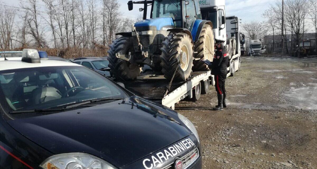 Alla periferia di Tortona un traffico illecito di mezzi rubati scoperto dai Carabinieri, 4 nei guai