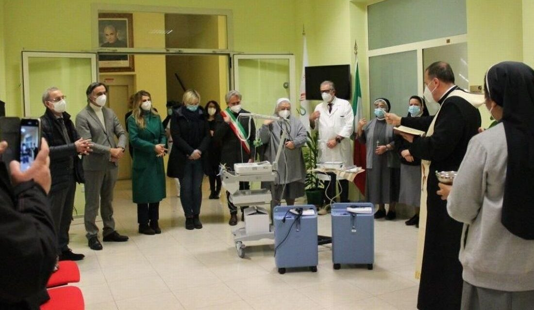 Italvalv dona due concentratori di ossigeno al Piccolo Cottolengo di Tortona