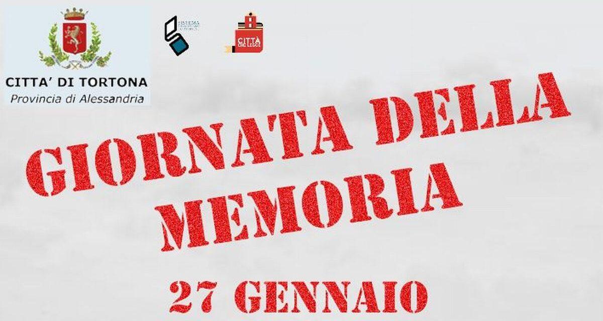 Le iniziative del Comune di Tortona per il Giorno della Memoria in programma la prossima settimana