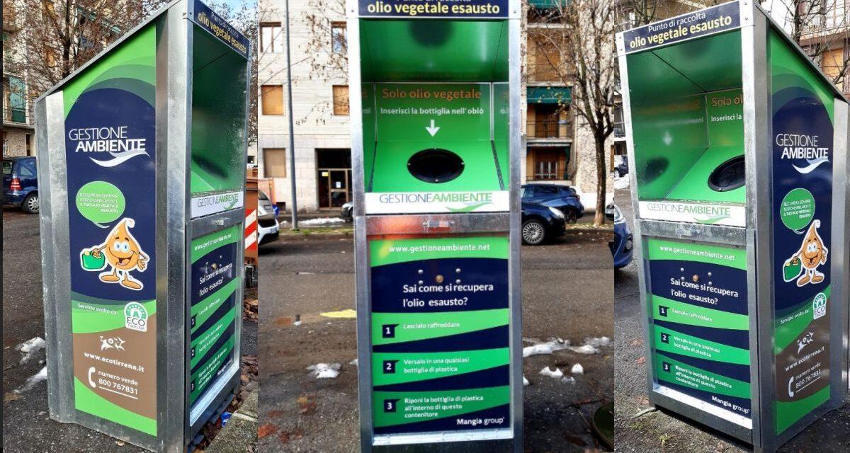 Nuovi contenitori per l'olio usato a Novi Ligure