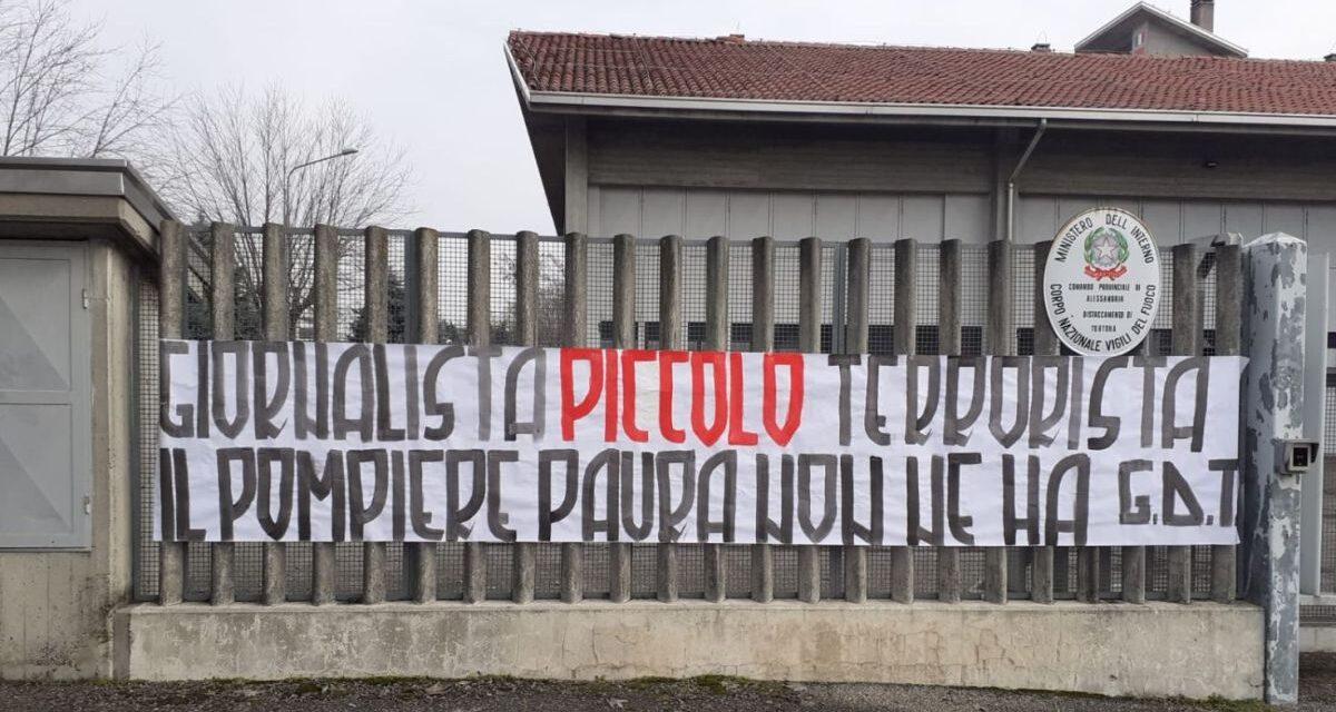 A Tortona la solidarietà verso i pompieri dei tifosi del Derthona