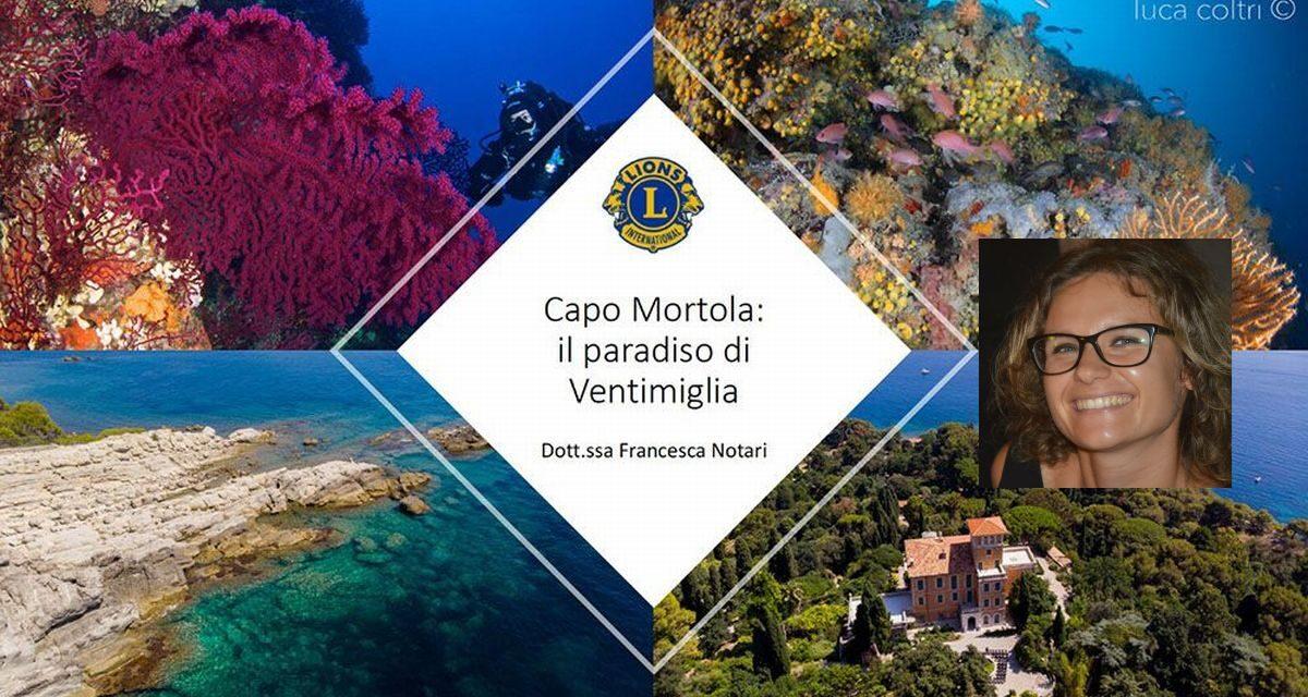 """""""Capo Mortola: paradiso di Ventimiglia"""", ieri la videoconferenza organizzata dai Lions Club Ventimiglia e Riva-Santo Stefano"""