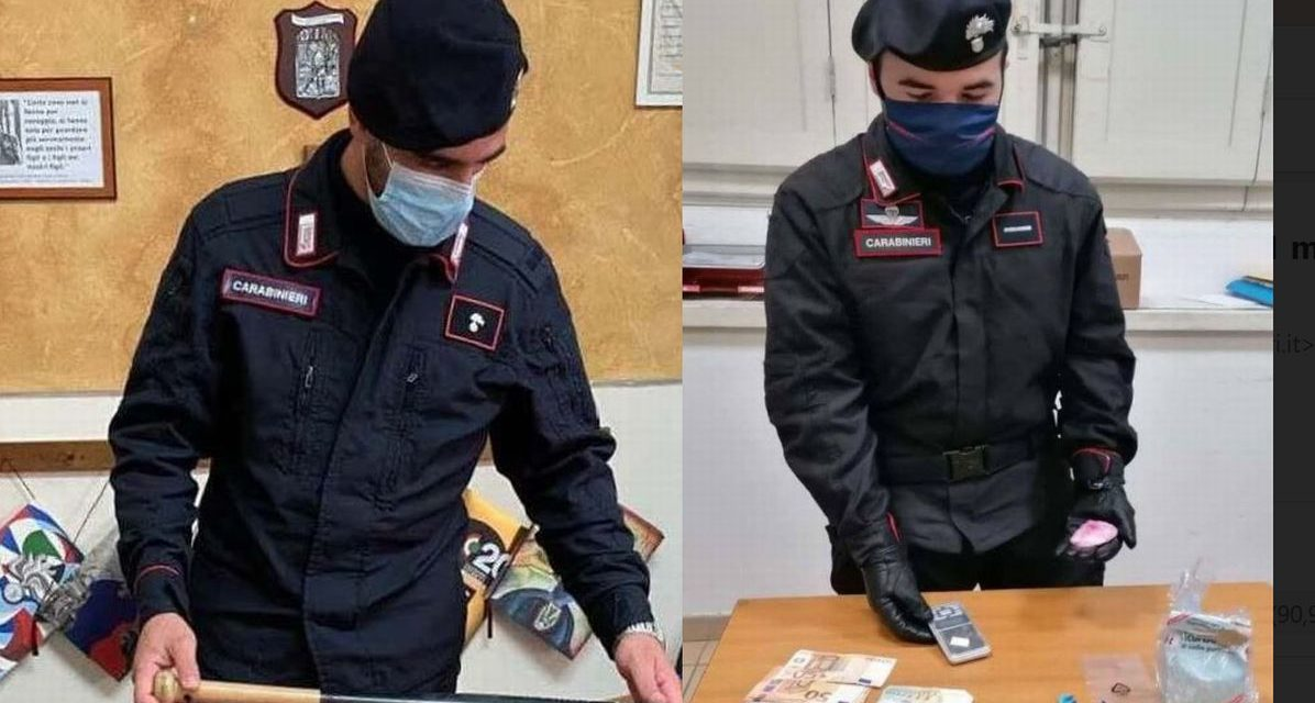 Mazza da baseball e droga, un rumeno e due marocchini presi grazie ai Carabinieri