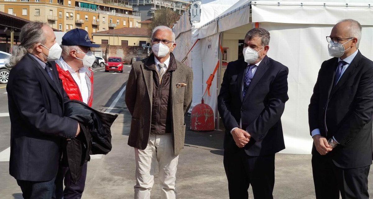 Ad Alessandria un sopralluogo al Centro Vaccinale della Valfrè