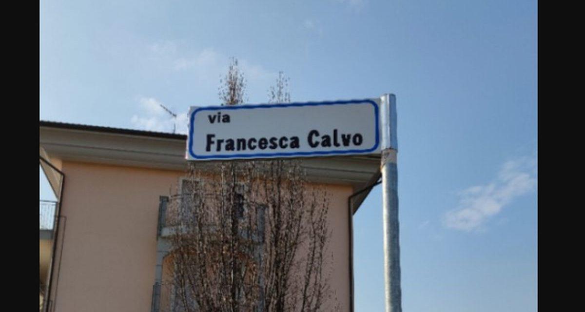 Alessandria ha intitolato una via all'ex Sindaco Francesca Calvo