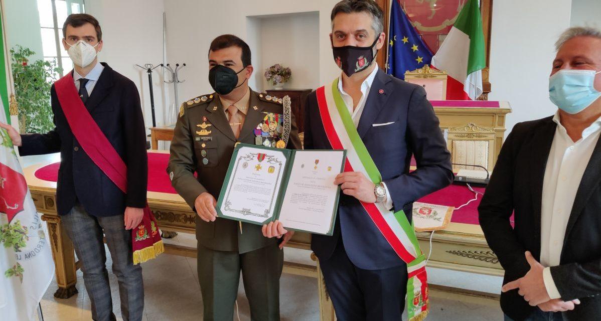Il Colonello dell'Ambasciata del Brasile in visita a Tortona