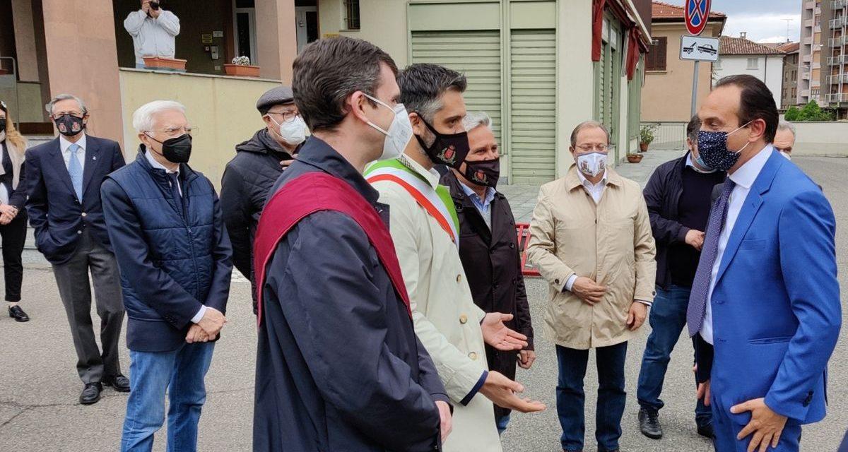Cirio, in visita nel Tortonese, conferma il futuro potenziamento dell'ospedale di Tortona