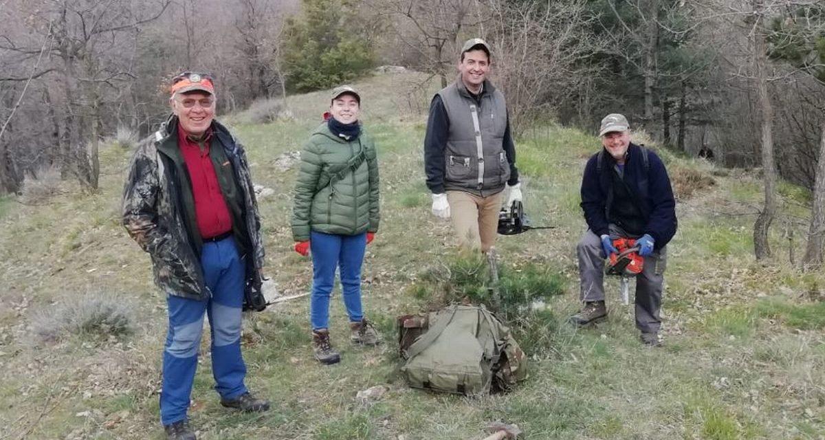 Continua l'impegno dei volontari per il recupero di mulattiere e sentieri storici nel Ponente Ligure