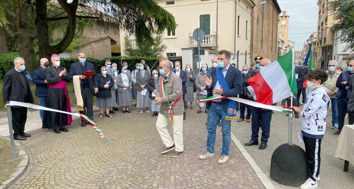 A Pontecurone Vescovo e Sindaco hanno inaugurato l'area dedicata ai Giusti