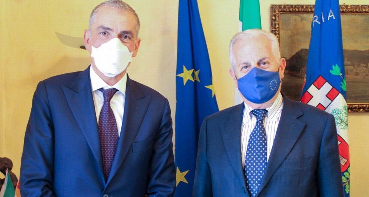 Imperia, incontro tra il sindaco Scajola e il sottosegretario Costa
