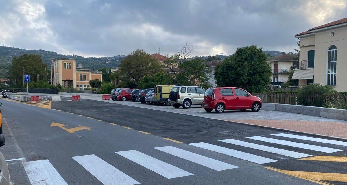 Cristiano Za Garibaldi: parcheggi sull'ex ferrovia, completata la prima parte del secondo lotto a Diano Marina
