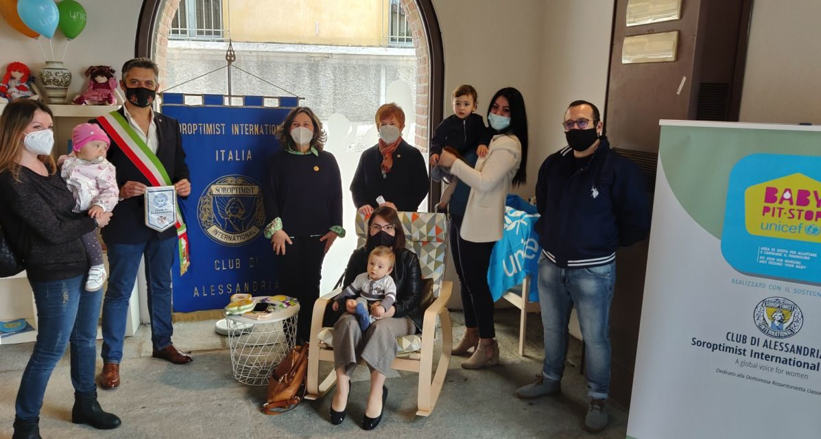 """A Tortona inaugurato il """"Baby pit stop"""" per l'allattamento a Palazzo Guidobono"""