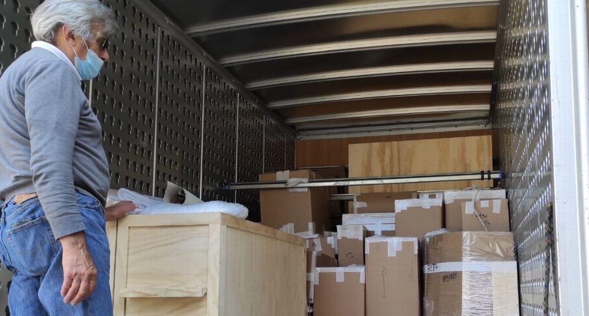 Collezione Bistolfi: è iniziato il trasporto delle opere a Casale Monferrato