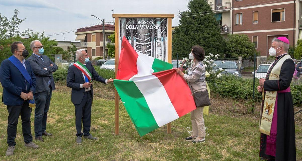 A Castelnuovo Scrivia è stato inaugurato il Bosco in memoria dei morti per Covid. Le immagini di Luigi Bloise