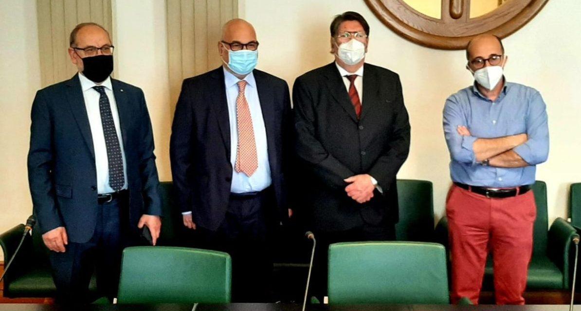 Il neo segretario Marco Casarino in visita alla Camera Commercio di Imperia