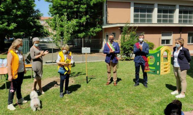 Il Lions Club Tortona Duomo dona una pianta di Ciliegio ai bambini della scuola di Corso Romita