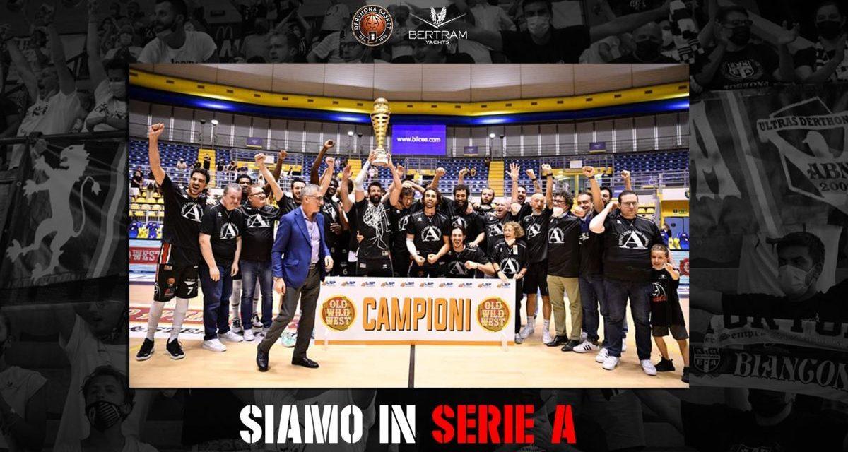 Il Derthona conquista la serie A di Basket ed entra nella storia